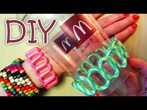 creare un braccialetto con una cannuccia
