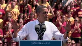 Ames (IA) United States  city photo : President Obama in Ames, Iowa - Iowa State University