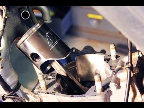 How to change piston / top end rebuild 2002-2007 Honda Cr 250