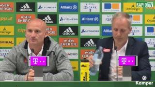 Pressekonferenz vor Rapid – Altach