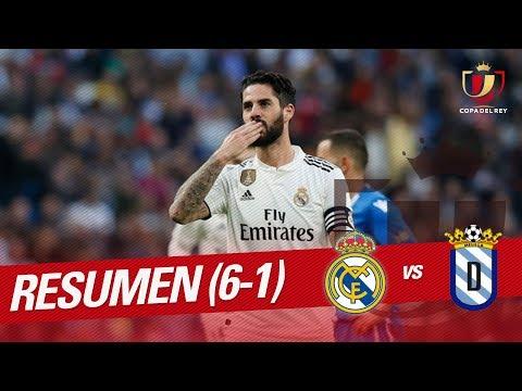 Resumen de Real Madrid vs UD Melilla (6-1)