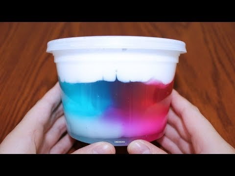 How To Make Amazing Avalanche Slime! DIY Snow Mountains In Slime!
