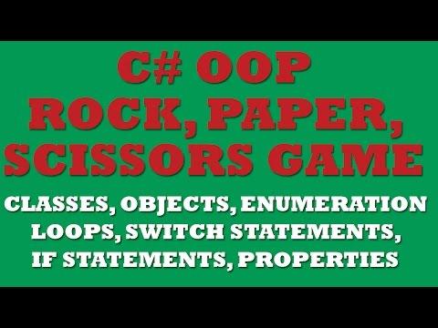 C# Rock, Paper, Scissors Game (OOP, Enum, Switch statements, Loops)