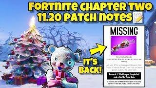 *NEW* Fortnite Update 11.20 Patch Notes! Fortnite BR (DAILY CHALLENGES, BANDAGE BAZOOKA RETURN)