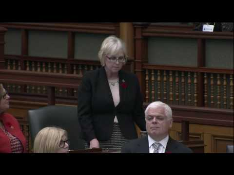 My tribute to first female Cabinet Minister MPP Margaret Birch (October 31, 2016)