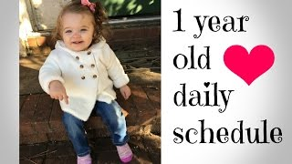 My 1 year old's daily schedule