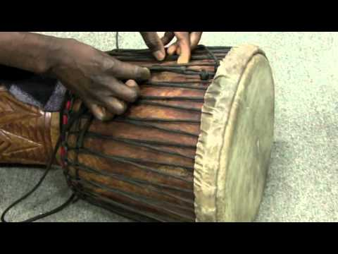 How to tune a djembe, How to rope tune a djembe, Guinea djembe