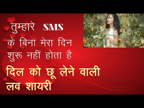 Love SMS Shayari in Hindi  प्यार भरा SMS  लाजवाब SMS  Love Shayari Images  Whatsapp Status Video