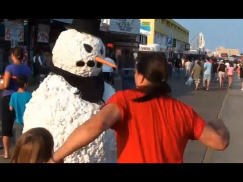 wrong - Get your Scary Snowman Bobble Head! http://www.scarysnowmanbobbles.com While at Jersey Shore scaring people as we usually do. The man in red approached to ch...