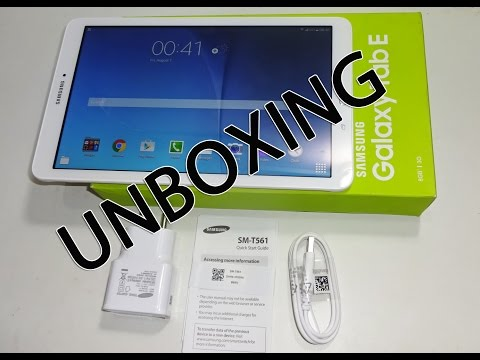 Samsung Galaxy Tab E Unboxing First Hand Review