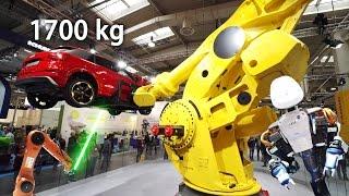Zusammenfassung aller Highlights der Hannover Messe 2017. Mit 1,7 Tonnen Tragkraft bei einer Reichweite von 4,68 Metern ist der Fanuc M-2000iA/1700L der stärkste Industrieroboter der Welt.Abonnieren: https://www.youtube.com/channel/UCrCLYgLx7x52o0Otv-8BZpg?sub_confirmation=1Facebook: https://www.facebook.com/HD1080ideTwitter: www.twitter.com/HD1080ide