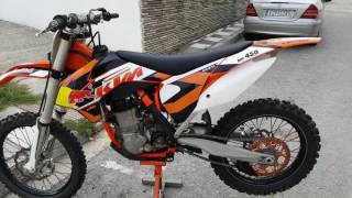 5. KTM SX-F 450 2015 Walk around & starting sound!