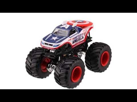 Video YouTube video advertisement of the Monster Jam 2013 Captain America 164