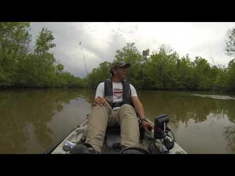 他原本非常興奮以為獵物是大魚上鉤,沒想到看到獵物浮出水面那刻時,立馬嚇得落荒而逃!