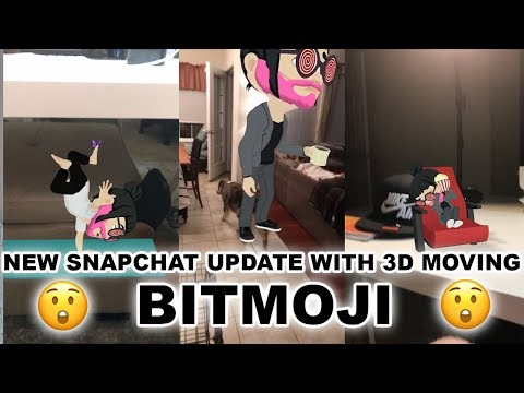 NEW Snapchat Update Comes With 3D Moving Augmented Reality Action Bitmojis (8-14-17)