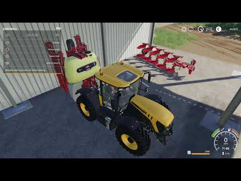 Farming Simulator 19 loading the implements