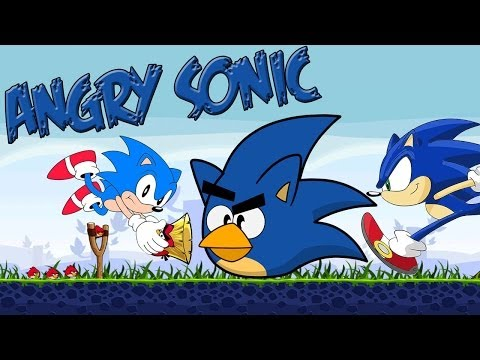 Angry  Sonic(Sonic meets the Angry Birds Team)