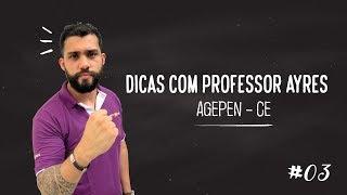 Acompanhe as Dicas para Legislação Específica do Concurso Agente Penitenciário CE. DICA #3 - Profº Ayres Barros - AGEPEN...