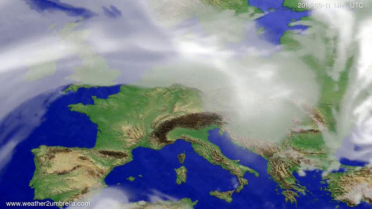 Cloud forecast Europe 2018-09-07