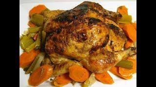 Poulet Roti au Four I Oven Roasted Chicken Temps de préparation : 10 minutes Temps de cuisson : environ 1h30 Ingrédients: • 1...