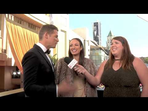 Interviewing Jason Kennedy and Catt Sadler at the 85th Annual Academy Awards