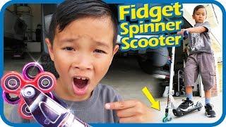 FIDGET SPINNER Scooter Wheels 1000mph Will It Work? Scooter Tricks, TigerBox HD