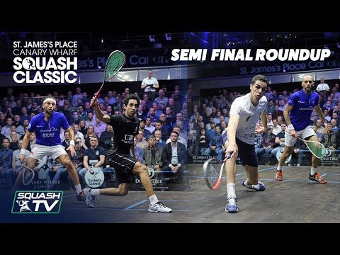 Squash: SJP Canary Wharf Classic 2020 - Semi Final Roundup