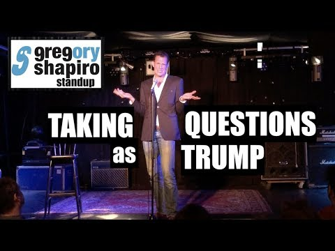 Greg Shapiro Standup: Taking Questions asTrump - Live at Mezrab Amsterdam