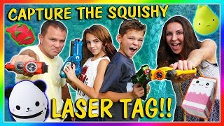 Video CAPTURE THE SQUISHY LASER TAG | We Are The Davises MP3, 3GP, MP4, WEBM, AVI, FLV Maret 2019