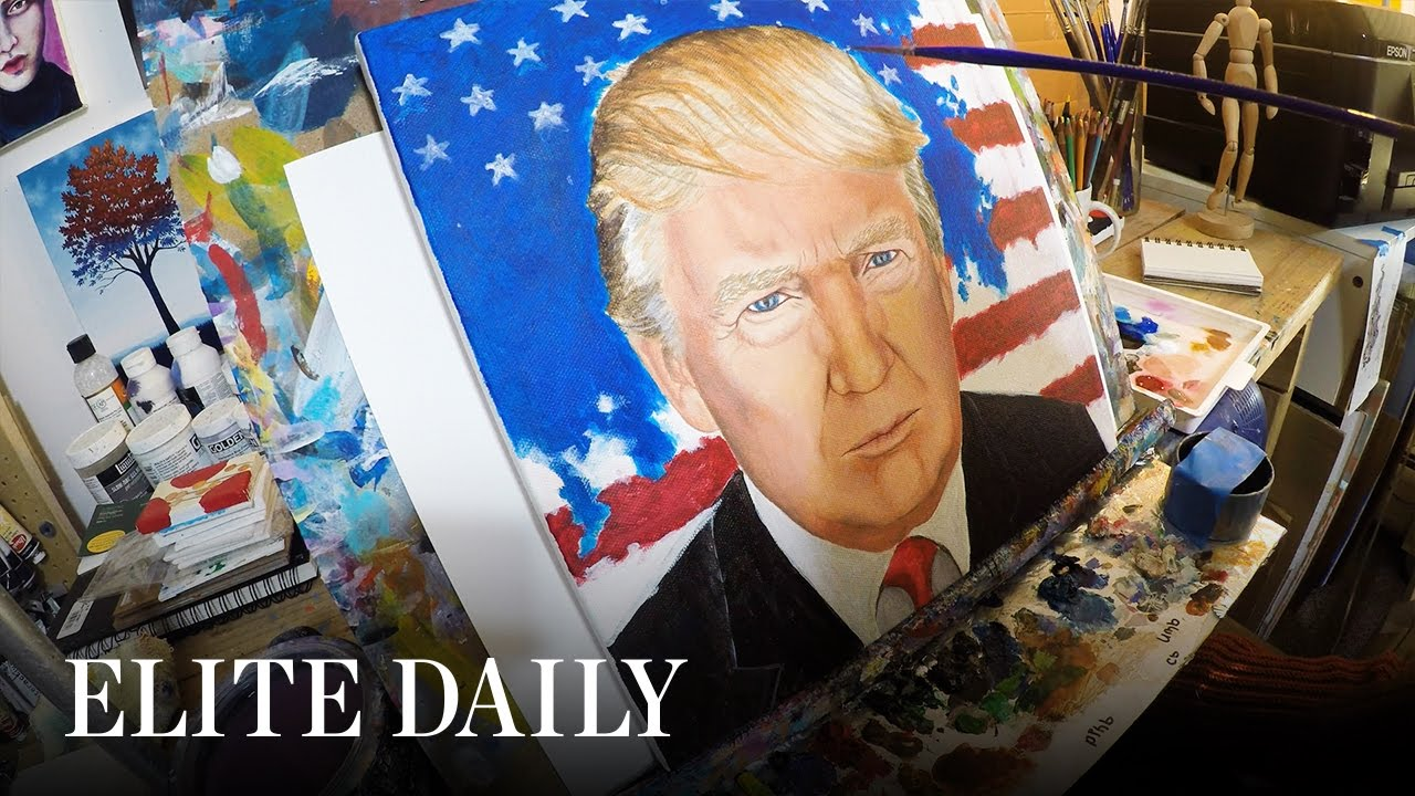Artist With Paralysis Paints Trump With Her Mouth