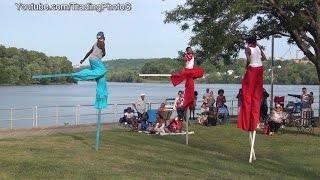 Middletown (CT) United States  city images : Stilt Walkers at Middletown Connecticut caribbean carnival 2014