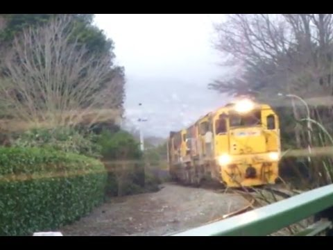 Kiwirail trains in Christchurch