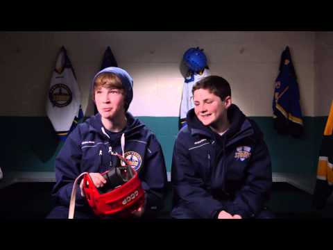 Kids React To Old Hockey Equipment  - Part 1