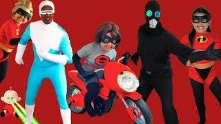 Video Disney Pixar INCREDIBLES 2 Halloween Costumes Toys and Elasticycle MP3, 3GP, MP4, WEBM, AVI, FLV Januari 2019
