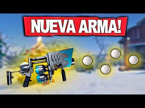 NUEVA ARMA LANZADOR DE BOLAS DE NIEVE!! Fortnite: Battle Royale