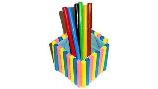 Подставка для ручек и карандашей своими руками. Оригами из бумаги