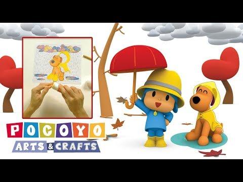 Pocoyo Arts & Crafts: Collage Loula na chuva