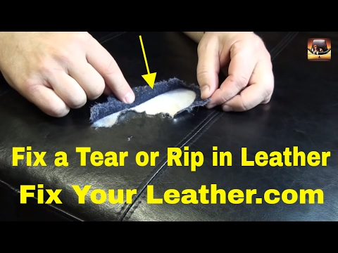 how to patch torn leather car seat