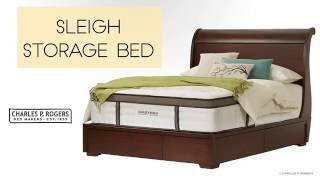 Sleigh Storage Bed video