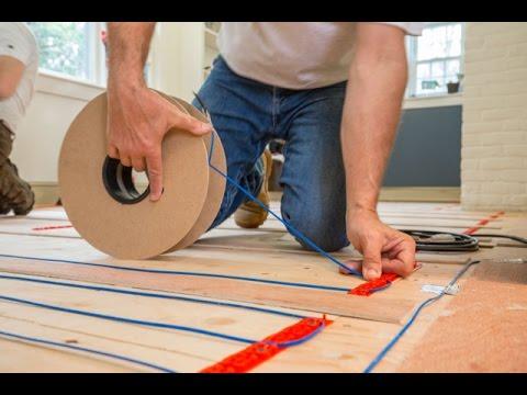 Installing Warmup Electric Radiat Heat Under Hardwood flooring
