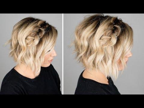 Braid hairstyles - DUTCH BRAID HAIR TUTORIAL  short hair