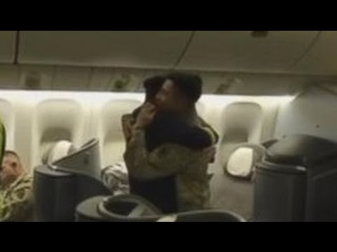 Dad the pilot surprises son flying home from Kuwait