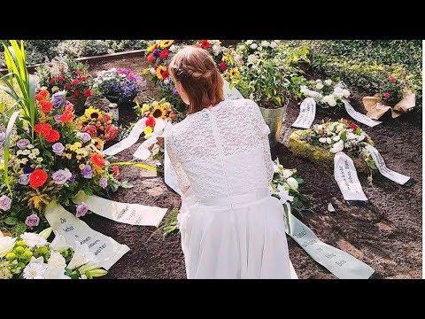 Braut im Hochzeitskleid am Grab | Das traurige Ende einer Jugendliebe