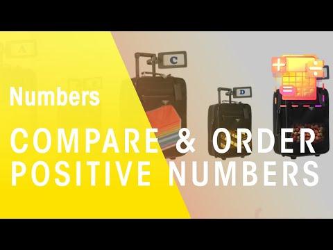 Mathe - Lernen zu vergleichen & bestellen positive Zahlen - die virtuelle Schule - Südafrika