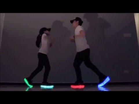 Light up Led shoe dance - Justin Bieber Sorry