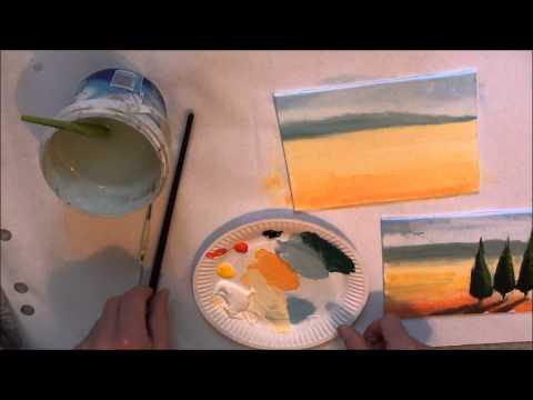 10-Minuten-Malerei: Toskana für Anfänger