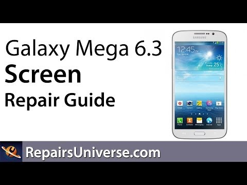 replacement - www.RepairsUniverse.com - In this Repair Guide we show how to tear down the Samsung Galaxy Mega 6.3 in order to repair a cracked screen. We walk you through ...