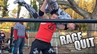 KID WRECKED BY INSANE F5's RAGE QUITS GTS WRESTLING! GRIMS WRE...