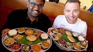 Video AUTHENTIC Southern Indian THALI at Taj Mahal Restaurant | Hyderabad, India MP3, 3GP, MP4, WEBM, AVI, FLV Desember 2018