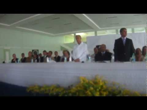 Prefeito Alberane Marques e vice-prefeito Itamar Perillo tomam posse em Palmeiras de Goiás
